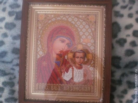 """Иконы ручной работы. Ярмарка Мастеров - ручная работа. Купить Икона венчальная """"Богородица казанская"""". Handmade. Разноцветный, венчальная пара"""