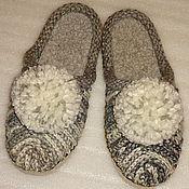 Обувь ручной работы. Ярмарка Мастеров - ручная работа Тапочки-шлепки Сюрприз в серых тонах. Handmade.