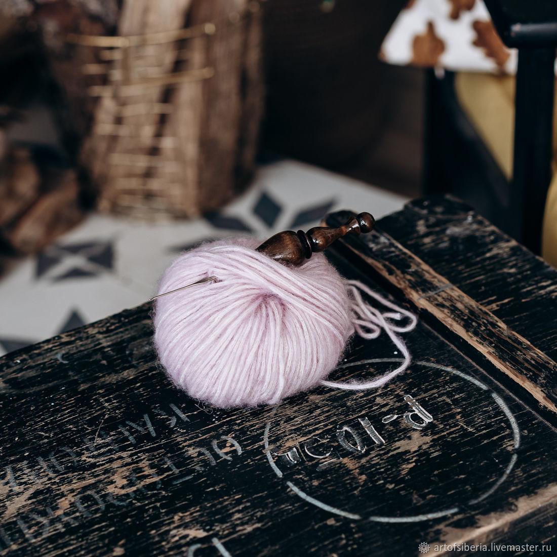 1,0 mm iron crochet hook with wooden handle (cedar) K217, Crochet Hooks, Novokuznetsk,  Фото №1
