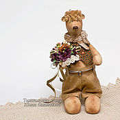 """Куклы и игрушки ручной работы. Ярмарка Мастеров - ручная работа Мишка """"Матвей"""". Текстиль. Handmade."""