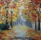 """Картины и панно ручной работы. Ярмарка Мастеров - ручная работа Картина маслом """"Осень"""" по мотивам Афремова. Handmade."""