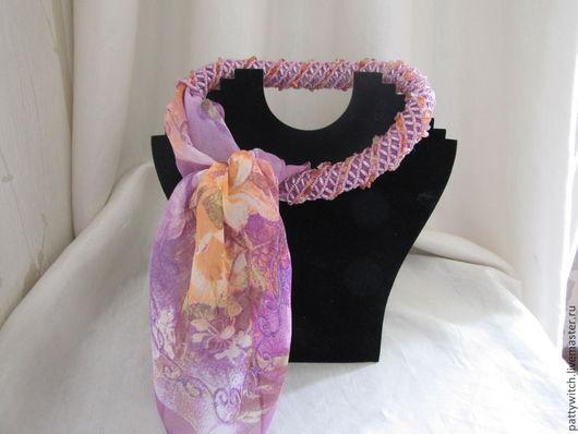 Колье, бусы ручной работы. Ярмарка Мастеров - ручная работа. Купить Жгут-о-шарф. Handmade. Разноцветный, бусины, аксессуары