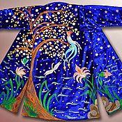 Одежда ручной работы. Ярмарка Мастеров - ручная работа Узбекский вышитый шелком национальный халат, чапан V1250. Handmade.