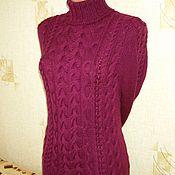 """Одежда ручной работы. Ярмарка Мастеров - ручная работа свитер"""" Косы свекольного цвета"""". Handmade."""