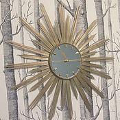 """Для дома и интерьера ручной работы. Ярмарка Мастеров - ручная работа Настенные часы """"Солнце"""" d60. Handmade."""