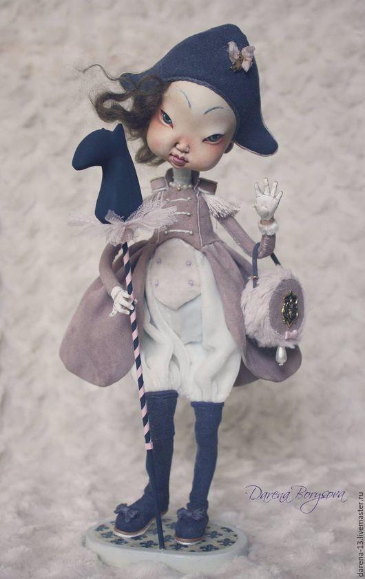 Коллекционные куклы ручной работы. Ярмарка Мастеров - ручная работа. Купить Наполеончик. Handmade. Бледно-сиреневый, интерьерное украшение, Паперклей