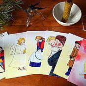 Открытки ручной работы. Ярмарка Мастеров - ручная работа открытка Теплая. Handmade.