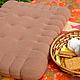 """Текстиль, ковры ручной работы. Большая подушка - печенье """"Крекер"""". Лариса (EnigmaStyle). Ярмарка Мастеров. Мягкая подушка, подушка на диван"""