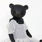 Куклы и игрушки ручной работы. Ярмарка Мастеров - ручная работа Мишка Чёрная Жемчужина. Handmade.