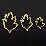 Материалы для творчества handmade. Livemaster - original item Cutter chrysanthemum leaves 2, plastic. Handmade.