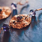 """Украшения ручной работы. Ярмарка Мастеров - ручная работа Серьги """"Пурпур ночи"""". Handmade."""