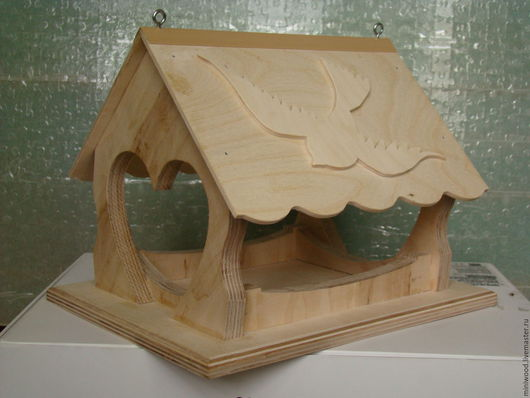 Для других животных, ручной работы. Ярмарка Мастеров - ручная работа. Купить кормушка для птиц. Handmade. Лимонный, скворечник