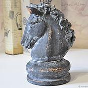 Для дома и интерьера handmade. Livemaster - original item Figurine chess knight of concrete in the style of Provence Shabby. Handmade.