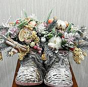 """Цветы и флористика ручной работы. Ярмарка Мастеров - ручная работа """"Открывайте двери, Новый год пришел"""". Handmade."""