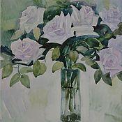 Картины и панно ручной работы. Ярмарка Мастеров - ручная работа Холодные розы. Handmade.