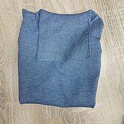 Одежда handmade. Livemaster - original item Blue cashmere turtleneck. Handmade.