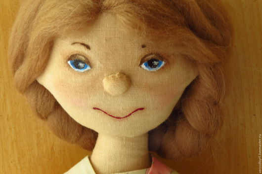 Куклы тыквоголовки ручной работы. Ярмарка Мастеров - ручная работа. Купить кукла текстильная тыквоголовая Леночка. Handmade. Розовый