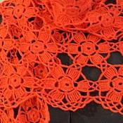 """Аксессуары handmade. Livemaster - original item Scarf - stole """"flower coral"""". Handmade."""