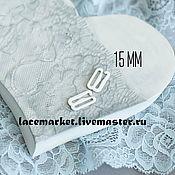 Фурнитура для шитья ручной работы. Ярмарка Мастеров - ручная работа Белый крючок застежка металл 15 мм. Handmade.