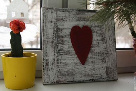 Интерьерные слова ручной работы. Ярмарка Мастеров - ручная работа. Купить Панно Heart. Handmade. Белый, прованс, влюбленные