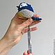 Игрушки животные, ручной работы. Птичка синичка - красивая мягкая игрушка.. Galka - toys. Ярмарка Мастеров. Поделки из пряжи