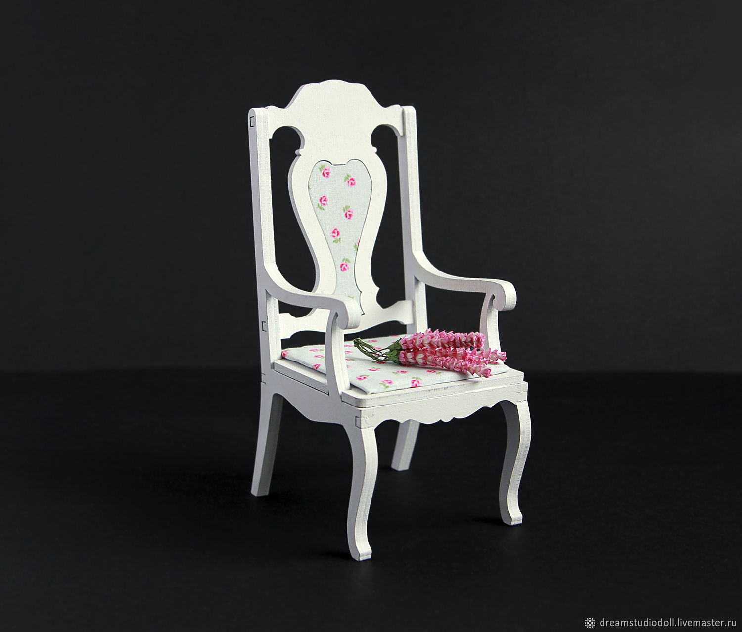 Chair №3 for dolls formats 1:6, 1:4 MSD, 1:3 SD, Doll furniture, St. Petersburg,  Фото №1