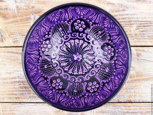 Пиалы ручной работы. Ярмарка Мастеров - ручная работа. Купить Керамическая пиала (фиолетовая). Handmade. Тарелка, керамика ручной работы