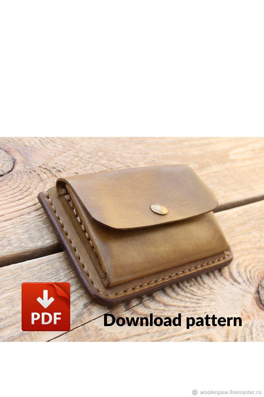 Выкройка мини кошелька PDF, Выкройки для шитья, Воскресенск,  Фото №1