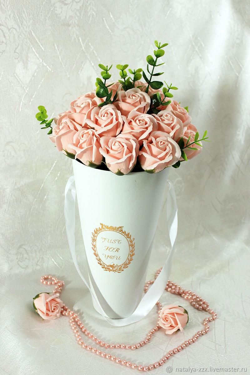 Розы в конусе, Цветы, Москва, Фото №1
