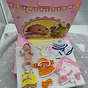 Куклы Reborn ручной работы. Ярмарка Мастеров - ручная работа Подарочный набор с силиконовой малышкой 11 см. Handmade.