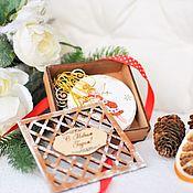 """Подарки к праздникам handmade. Livemaster - original item Новогодний набор подвесок """"Ангелы"""". Handmade."""