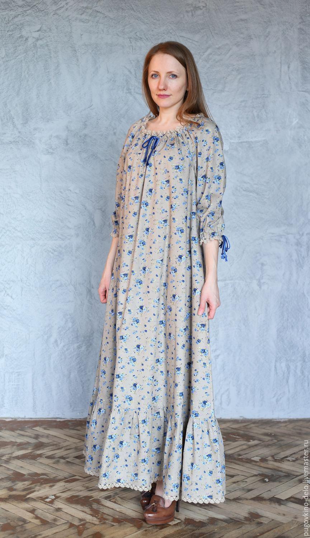 Платья стиль крестьянский