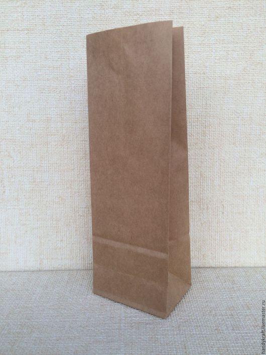 Упаковка ручной работы. Ярмарка Мастеров - ручная работа. Купить Крафт пакет без рисунка 9х27 см. Handmade. Коричневый