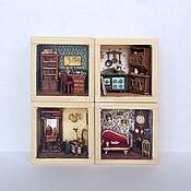Куклы и игрушки ручной работы. Ярмарка Мастеров - ручная работа Мини-дом из 4 комнат. Handmade.