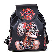 Сумки и аксессуары handmade. Livemaster - original item Womens leather backpack. Handmade.