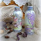 Для дома и интерьера ручной работы. Ярмарка Мастеров - ручная работа Маленькие вазочки в стиле прованс. Handmade.