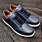 Обувь ручной работы handmade. Livemaster - original item Sneakers made of genuine python leather and genuine calfskin. Handmade.