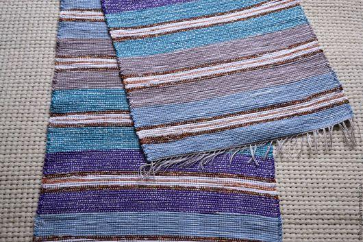 Текстиль, ковры ручной работы. Ярмарка Мастеров - ручная работа. Купить Половик ручного ткачества (№ 124). Handmade. Синий