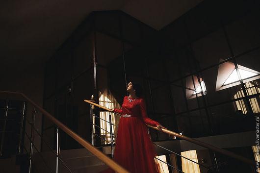 """Платья ручной работы. Ярмарка Мастеров - ручная работа. Купить Вечернее платье """"Красная королева"""". Handmade. Ярко-красный, свадьба"""