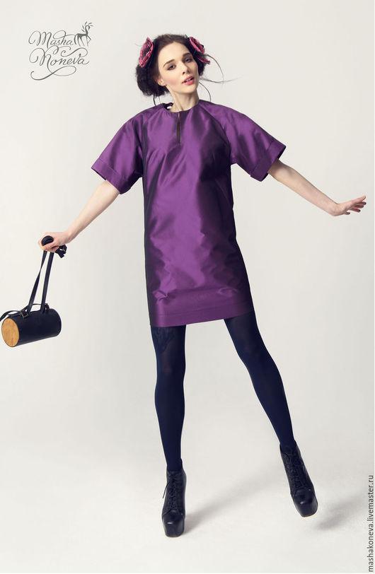 Платья ручной работы. Ярмарка Мастеров - ручная работа. Купить Платье из тафты с кружевной спиной. Handmade. Тёмно-фиолетовый, выпускное