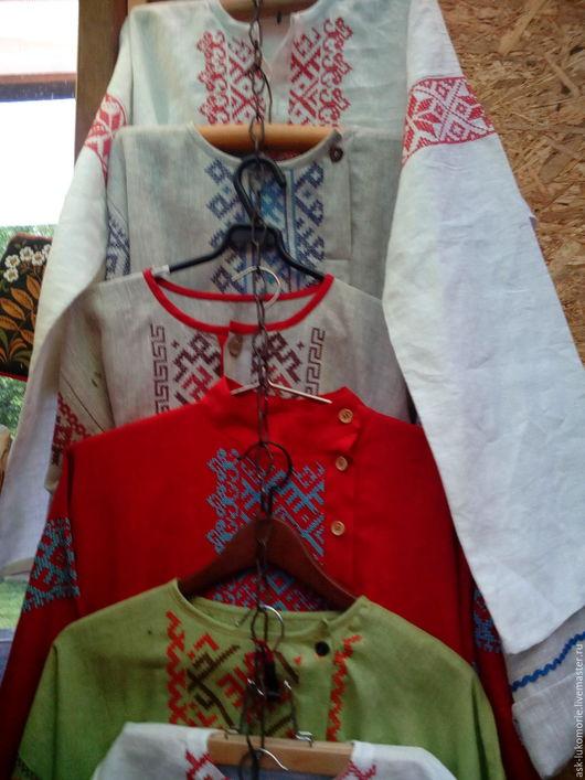 Одежда ручной работы. Ярмарка Мастеров - ручная работа. Купить рубашки мужские с обережной вышивкой. Handmade. Оберег для семьи