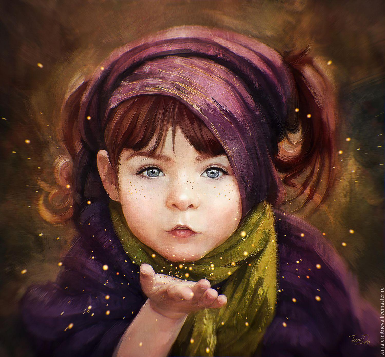 Портрет детский рисунок или как нарисовать портрет
