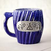 Посуда handmade. Livemaster - original item Mug blue. Handmade.