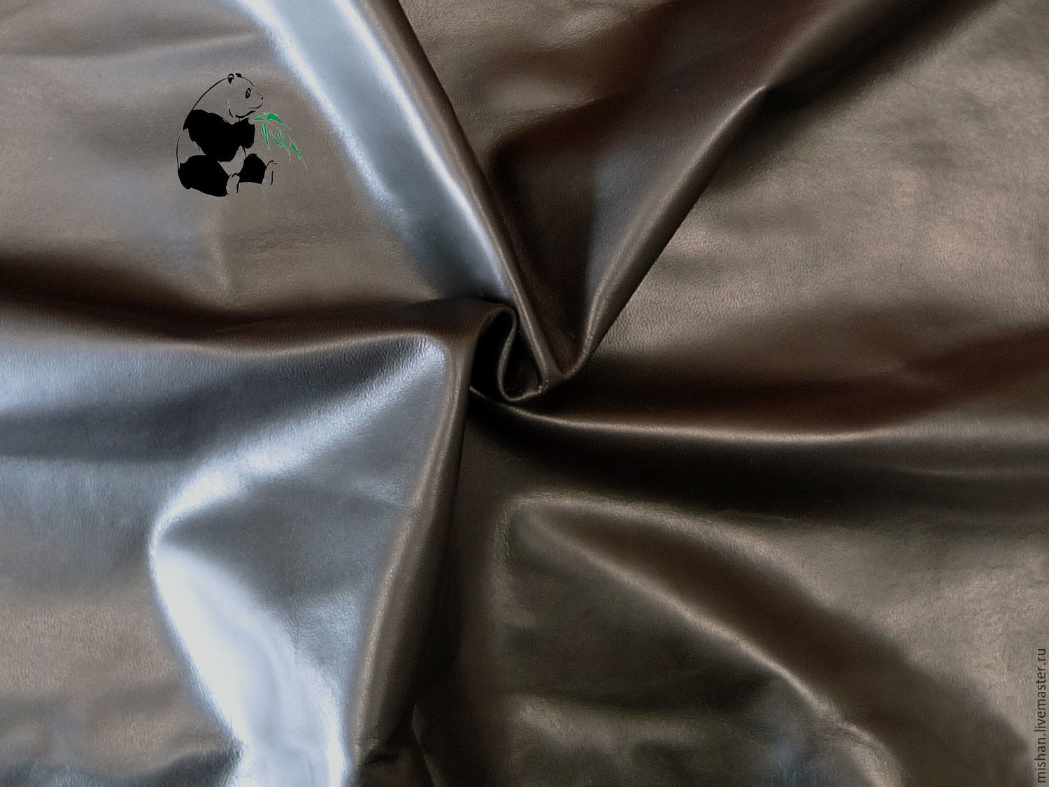 Genuine leather clothing. italy. the color is brown. Plate. Leaves, Leather, Ekaterinburg,  Фото №1