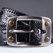 handmade. Livemaster - original item Crocodile leather belt IMA3185B. Handmade.