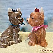 Мыло ручной работы. Ярмарка Мастеров - ручная работа Собака Йорк мыло сувенирное. Handmade.