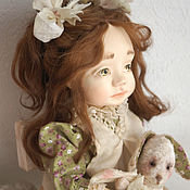 Куклы и пупсы ручной работы. Ярмарка Мастеров - ручная работа Будуарная подвижная кукла девочка в ретро стиле. Handmade.
