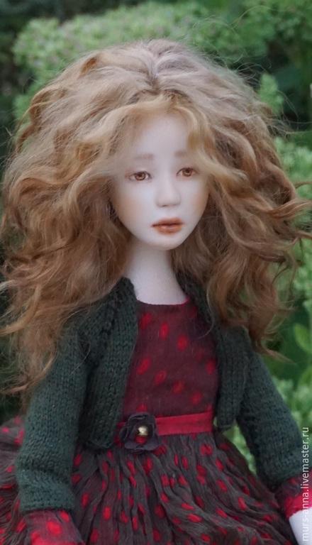 Коллекционные куклы ручной работы. Ярмарка Мастеров - ручная работа. Купить Кукла коллекционная Лизхен.. Handmade. Ярко-красный