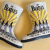 """Обувь ручной работы. Ярмарка Мастеров - ручная работа Валенки """" Битлз"""". Handmade."""