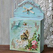 Для дома и интерьера ручной работы. Ярмарка Мастеров - ручная работа Ключница с дверцей Уютный дом. Handmade.